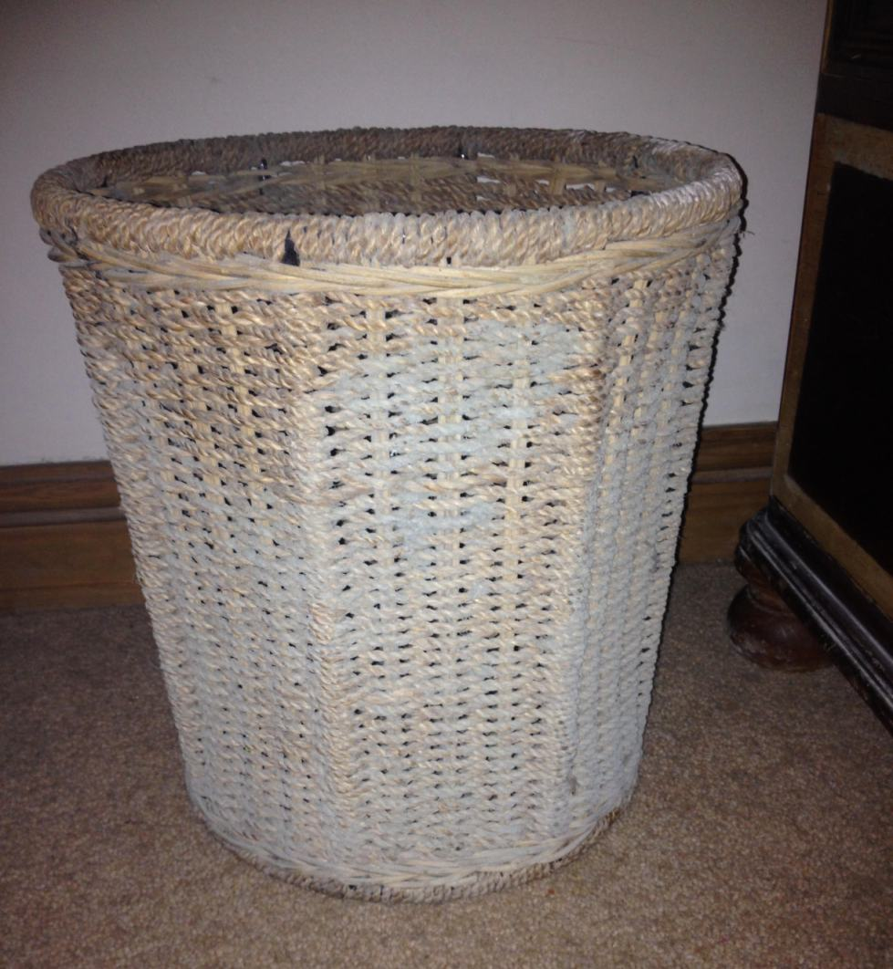 Moldy wicker basket
