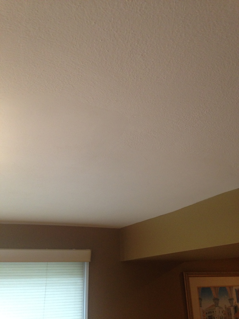 Ceiling repaired from leak
