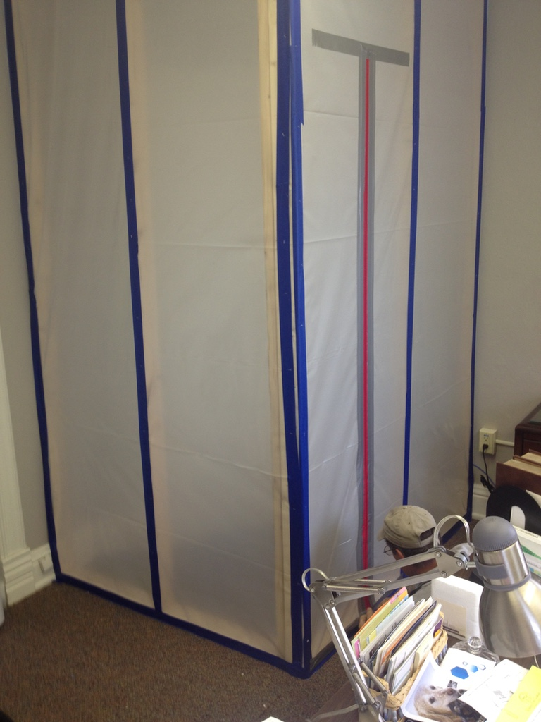 containment barrier during mold remediation