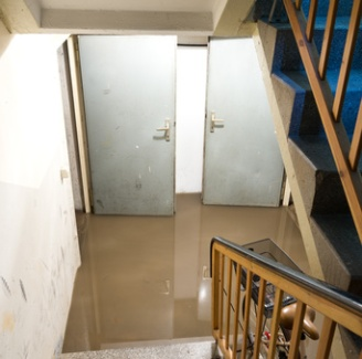 Basement flood cleanup