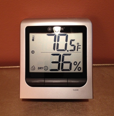Hygrometer for the home