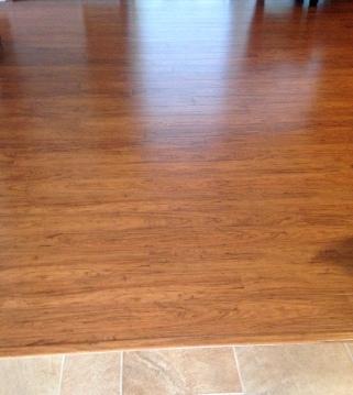 water damage laminate floor