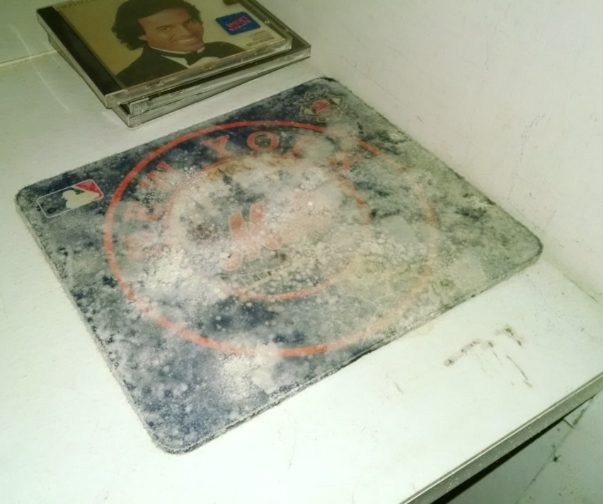Moldy mouse pad