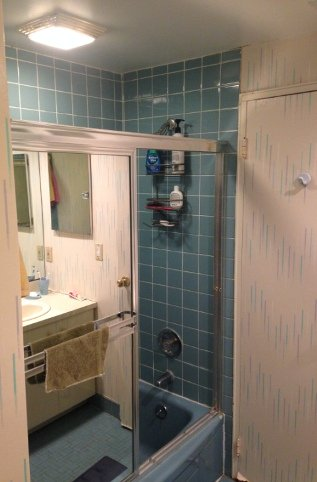 Shower with exaust fan